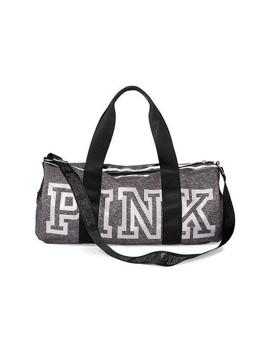 Victoria's Secret PINK Gym Duffle Tote Bag (Grey marl)
