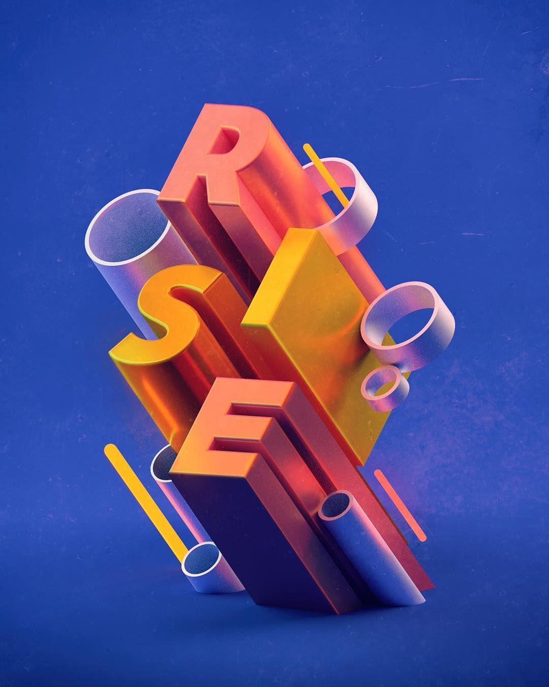 3d Typography Artworks 3d Type C4d Render Marketing