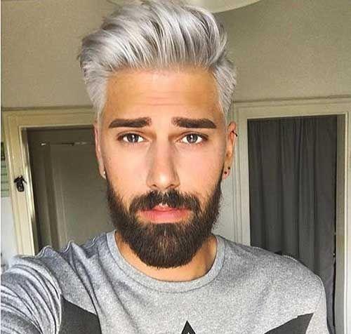 Grau gefärbte haare mann Haare grau