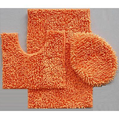 Latitude Run Van Wyck Mix Chenille 3 Piece Bath Rug Set Products