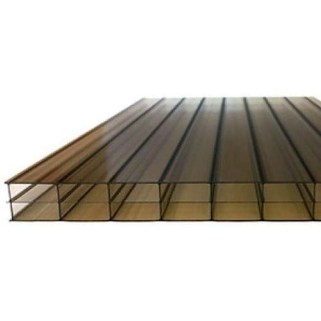 16mm Bronze Triple Wall Polycarbonate Roofing Sheets Roofing Sheets Roofing South Facing Garden