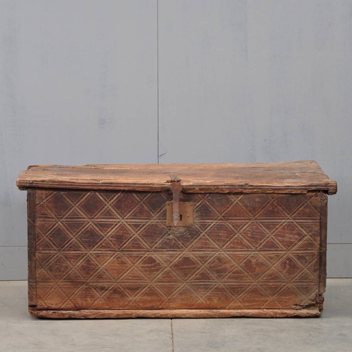 Shop this Original Spanish early coffer with carved side decorations from  Paul de grande Antique furnture and Early decorative objects. - Original Spanish Early Coffer With Carved Side Decorations. Early