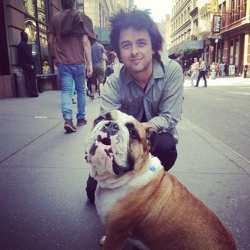 Billie Joe and his dog. ❤