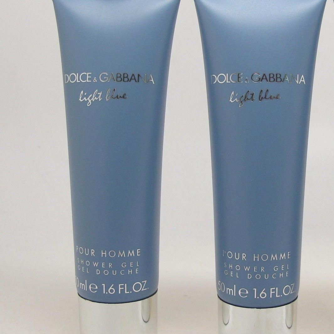 1b6fb43dc42a Body Washes and Shower Gels 31754  2 X Dolce And Gabbana Light Blue For Men