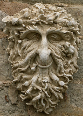 Photo of Rowan The Green Man/Tree Man –  Large Marble Wall Plaque Free UK shipping on orders over £25