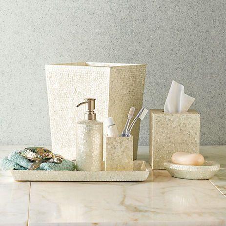 Marvelous Capiz Shell Bath Accessories