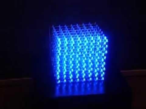 Cubo de LEDs 8x8x8 - Arduino