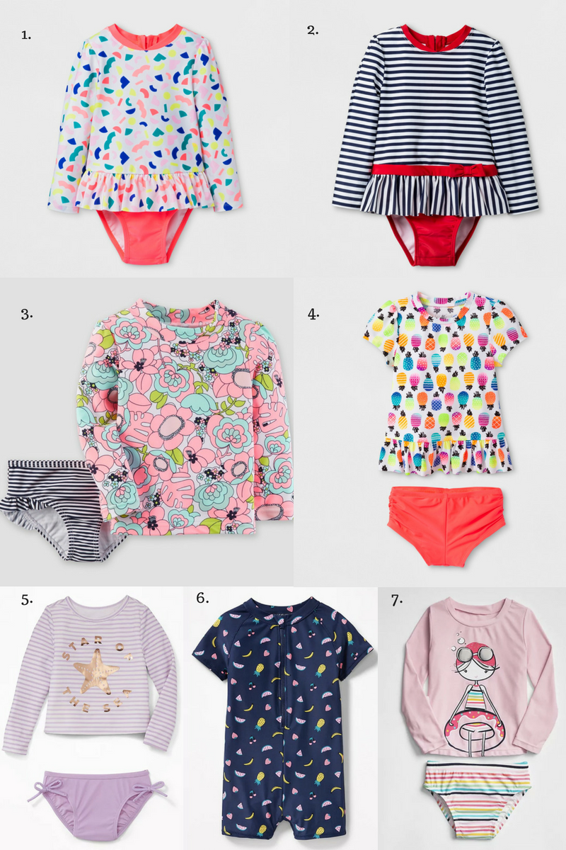 0dfe7c994e Cute and practical swimsuits for little girls that offer sun coverage.   swimsuit  girls  kidsclothes  summer  summerfun
