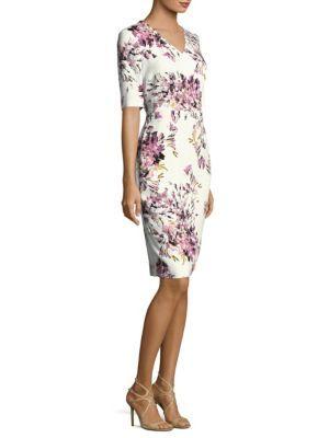c2913935910c Escada - Dnila Floral-Print Dress