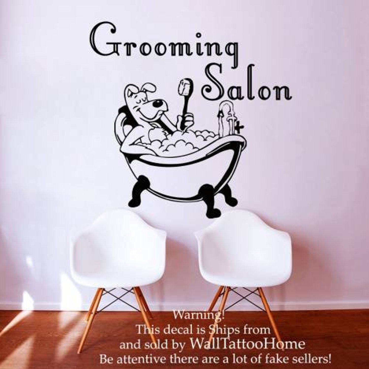 wall decals grooming salon decal vinyl sticker dog pet on wall stickers for hall id=38684