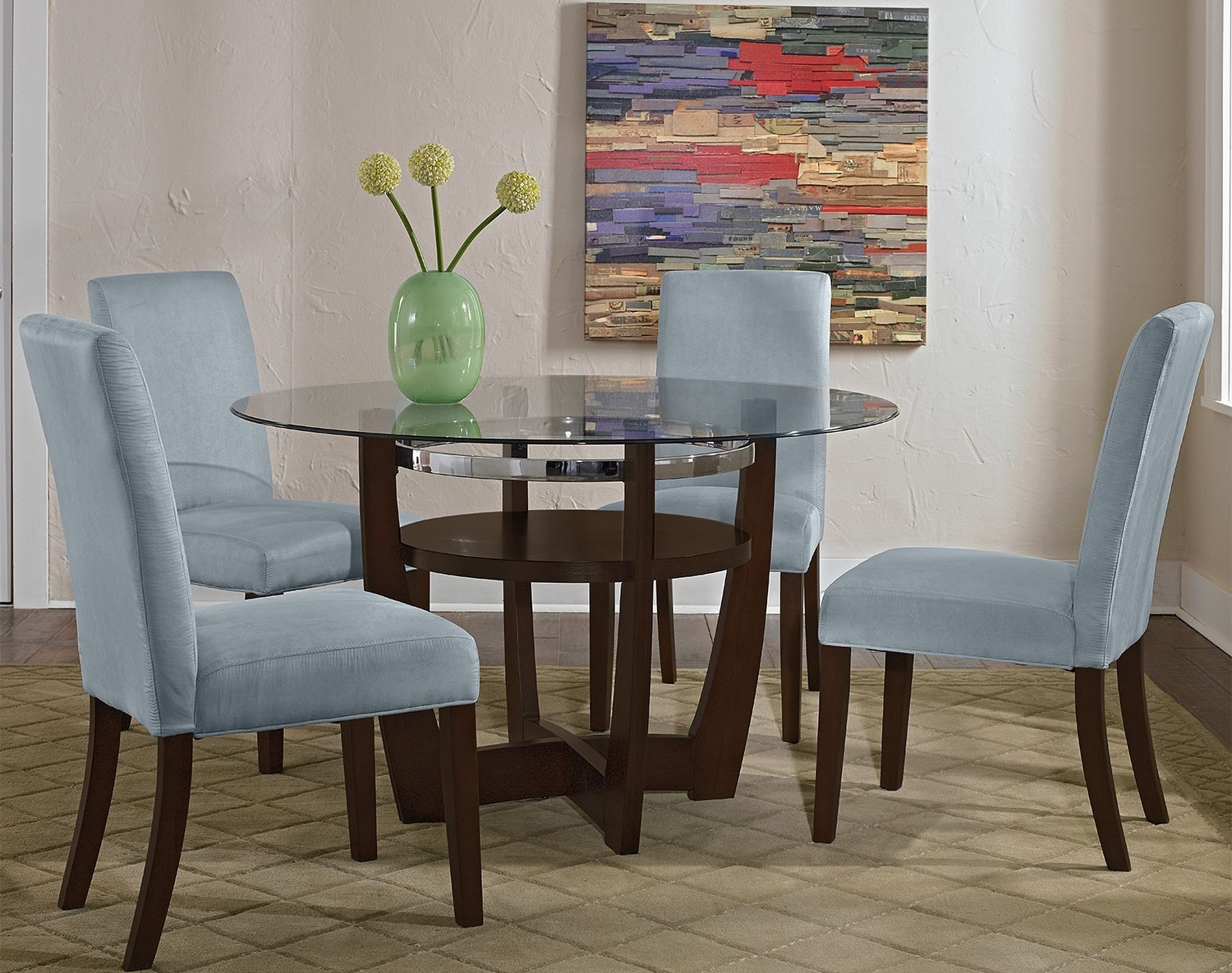 The Alcove Aqua Collection Value City Furniture Red Dining