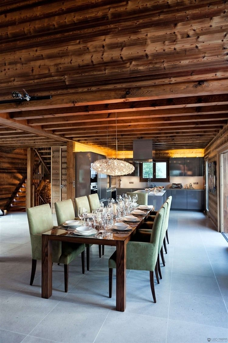 One Oak Chalet in French Alps | interior(dining) | Pinterest ...