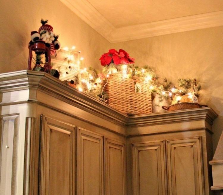 Christmas Decorating Ideas Above Kitchen Cabinets Christmas Kitchen Decor Above Kitchen Cabinets Decor