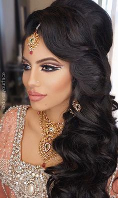 1000 Ideas About Indian Bridal Hairstyles On Pinterest