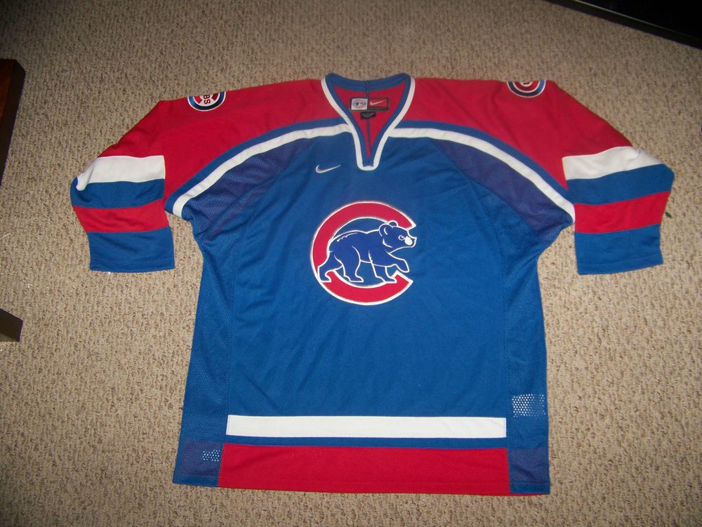 CHICAGO CUBS Hockey Style Jersey -- XL by Nike  ChicagoCubs 57a58f040a3