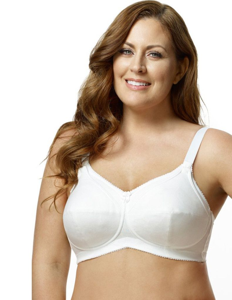 721bad32a4d Elila Cotton Softcup Nursing Bra - 100% cotton cups are supportive for  Sizes 32-46, D-M Cups. 3-Stage adjustable top cup hook and eye fasteners.