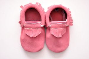 Moccasins - Suede Pink