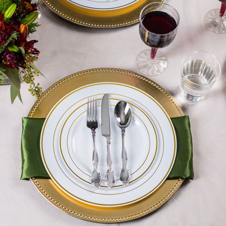 10280 Gold Rimmed White Plate Value Pack Quinciaera 3