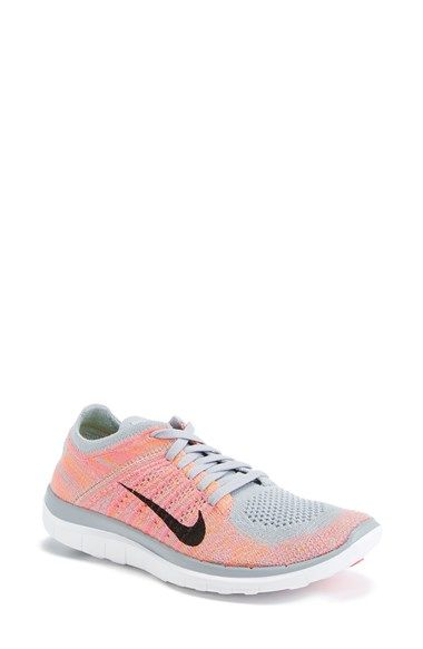 Nike 'Free Flyknit' Running Shoe (Women) available at - in purple/black