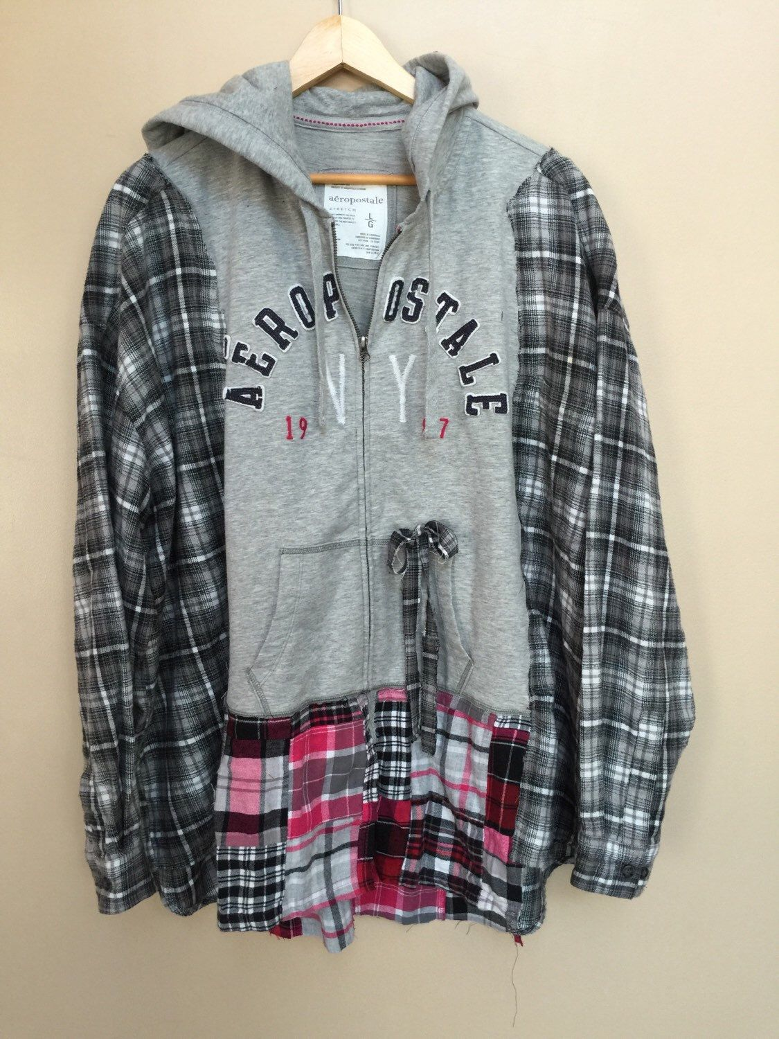 3d90876e0e XXL to Plus size   Upcycled Hoodie   Reconstructed Hoodie ...