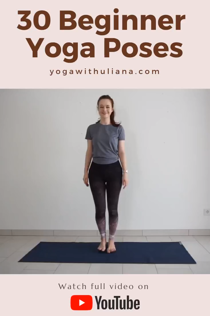 30 best beginner yoga poses for strength and flexibility | Yoga with Uliana
