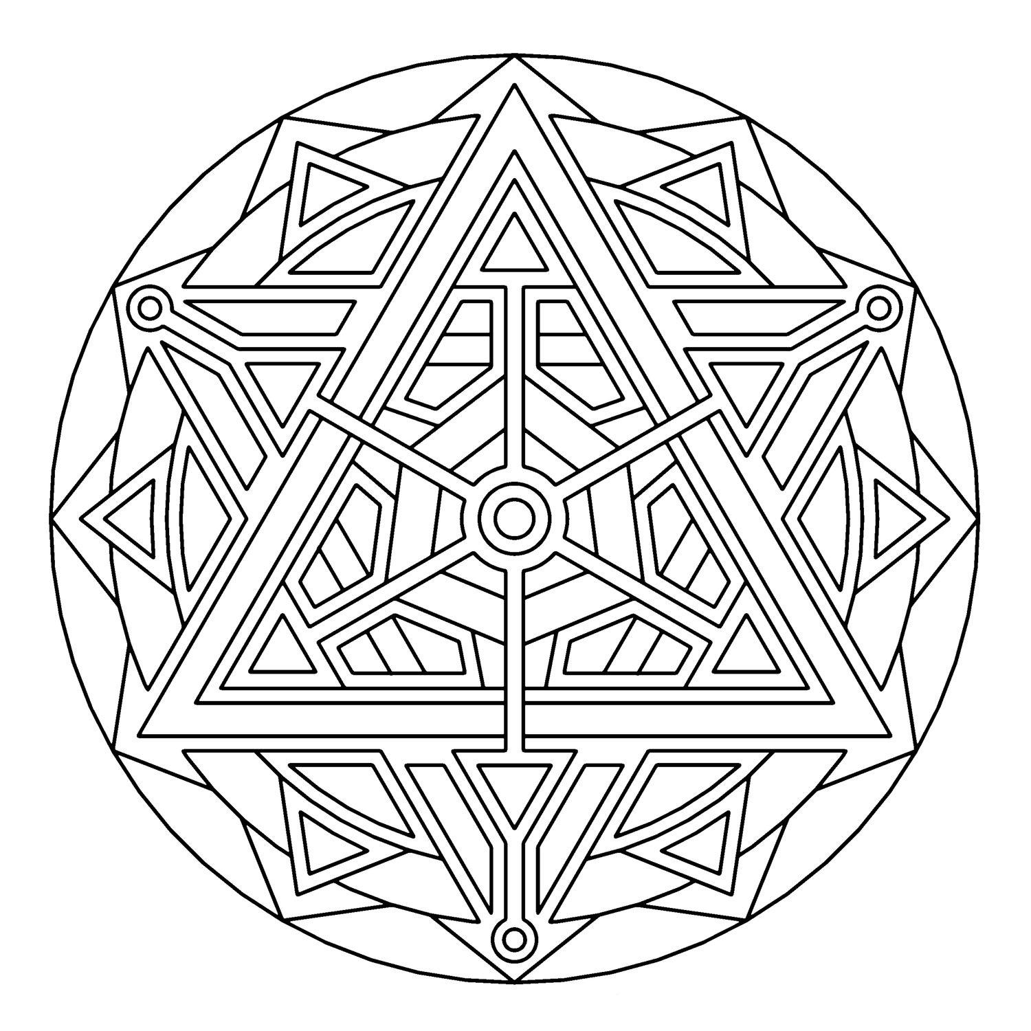 Teleport_geometry_coloring_pages.jpg | Mandalas to color | Pinterest ...