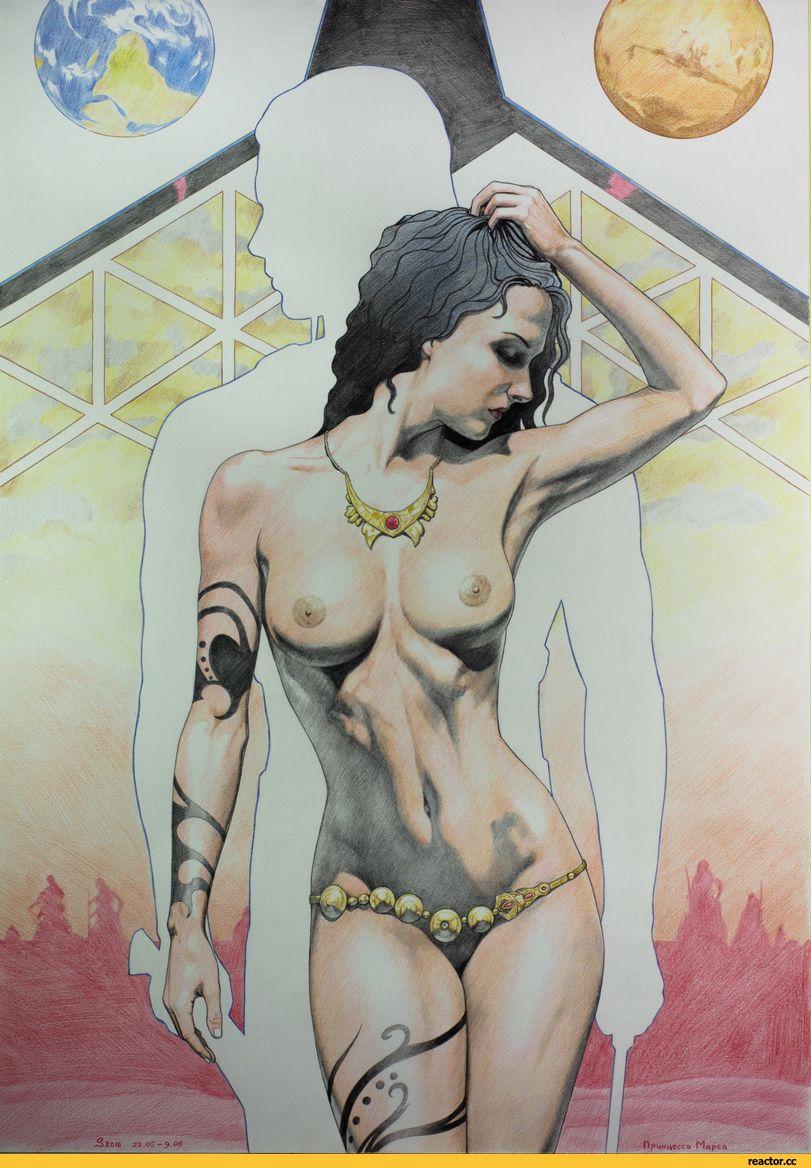 Красивые девушки рисунки эротика — pic 8