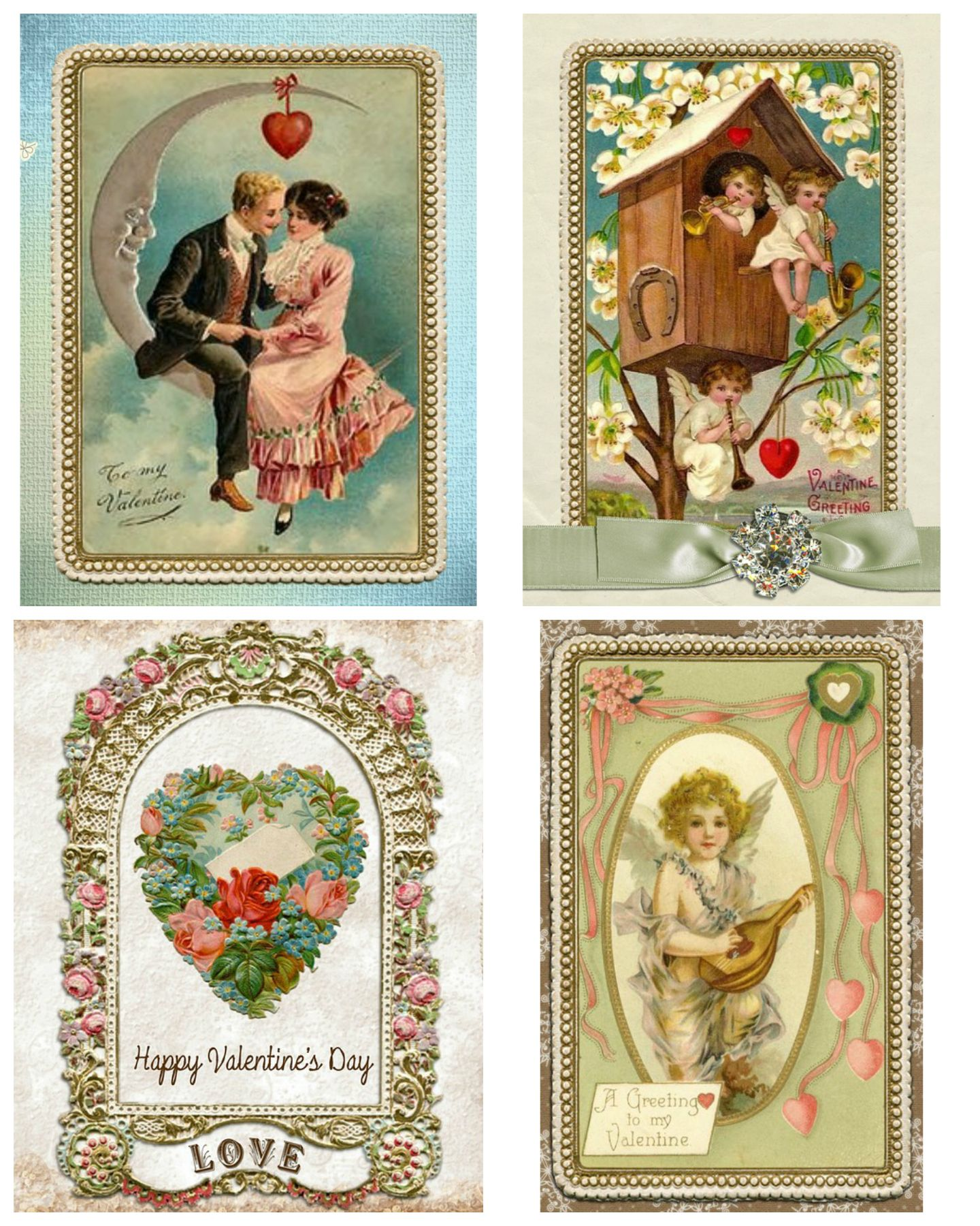 picture regarding Free Printable Vintage Valentine Cards known as Absolutely free Printable Traditional Valentines Working day Playing cards Valentines