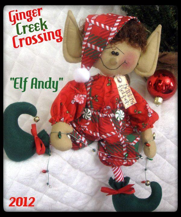 Primitive Raggedy Christmas 14 Elf Andy Santas Littlest Elf w