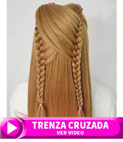 Peinados Faciles Para Ninas Con Trenzas Cruzadas Peinados - Trenzas-faciles-para-nia