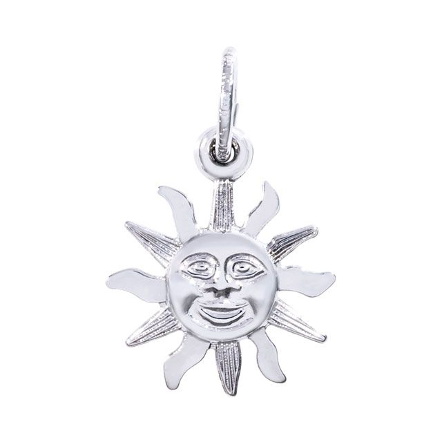 Rembrandt Sun Charm, Sterling Silver