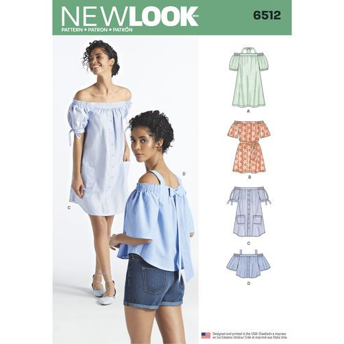 New Look Pattern 6512 Misses\' Dresses and Tops in Two Lengths with ...