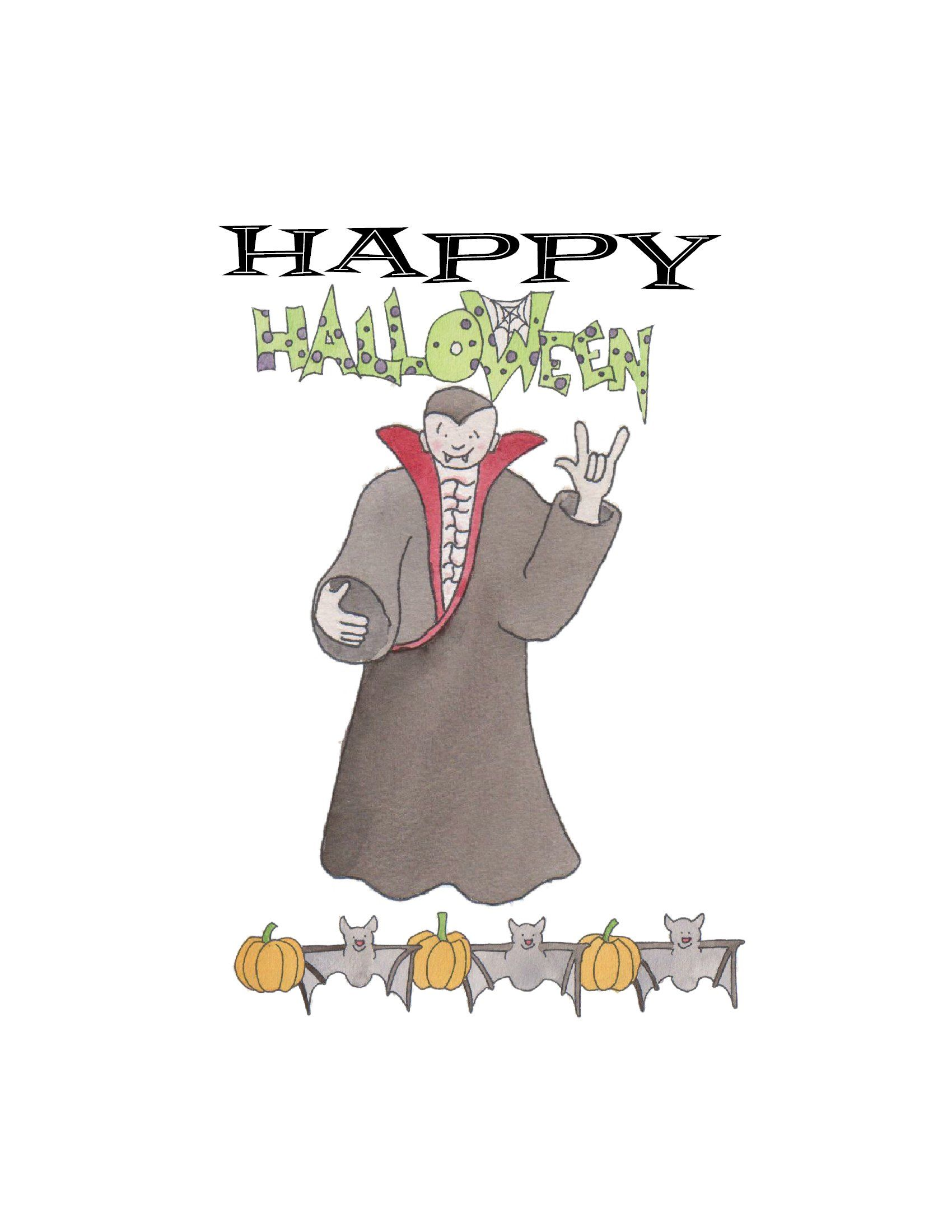 Happy Halloween Asl Ily Sign For Halloween Check Back