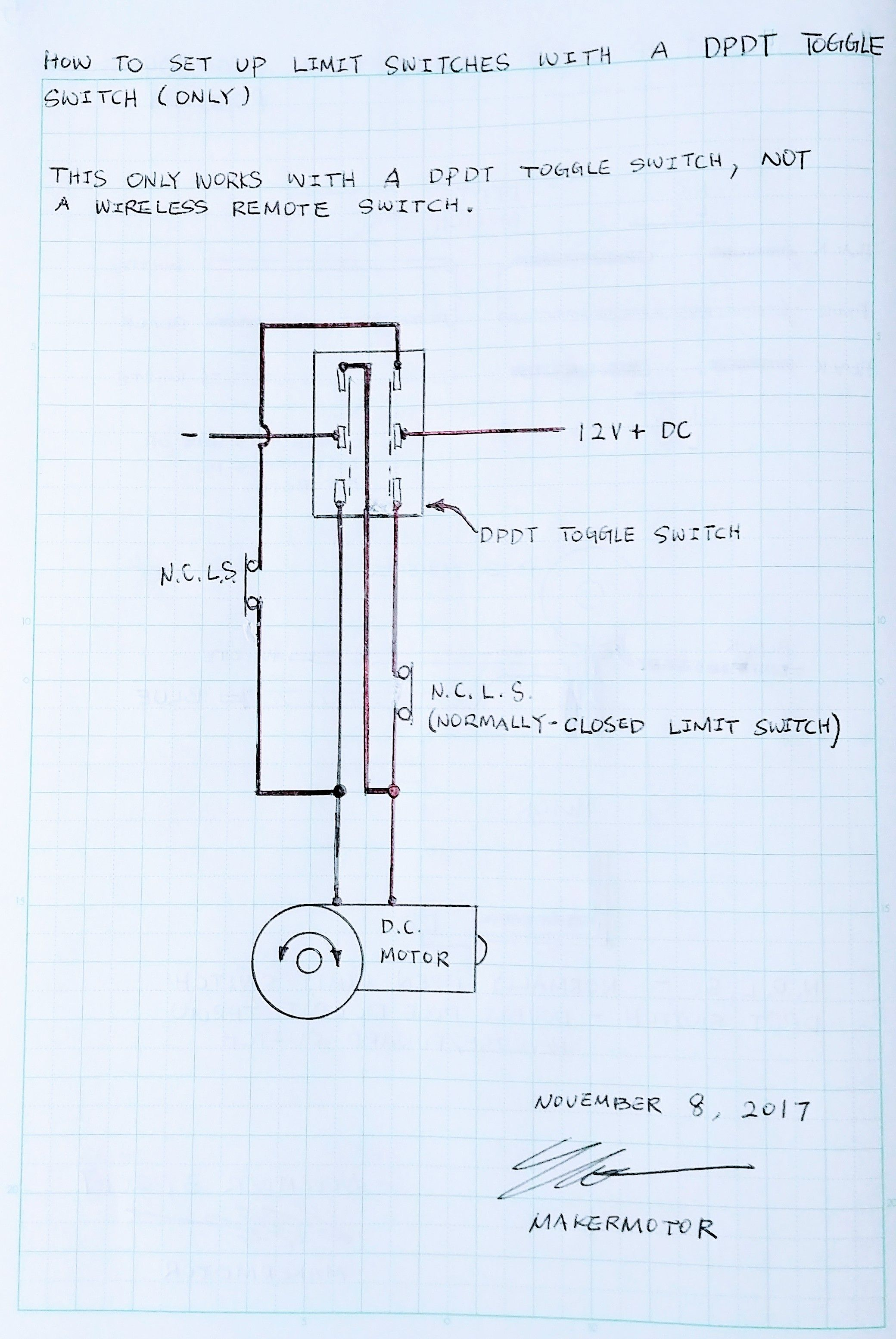 medium resolution of how to set up limit switches with a wired dpdt switch for reverse forward controls