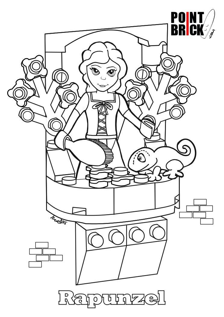 Lego da Colorare: Malvagio Ninja Verde e Rapunzel! | Coloring Pages ...
