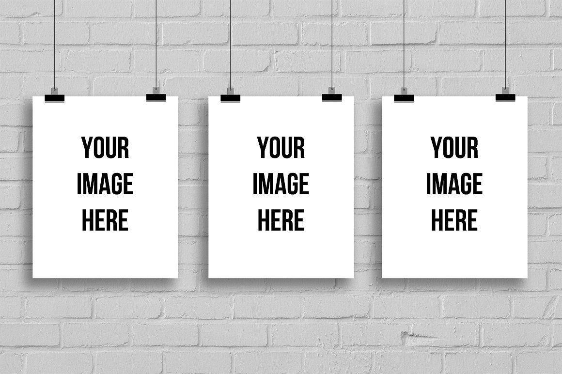 Three Empty Frames For Art Display Art Display Digital Frame Empty Frames