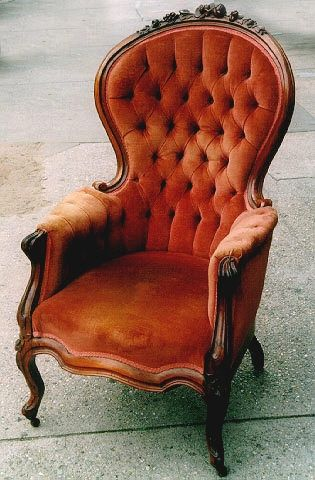 Victorian Copper Velvet Armchair I Think I Have Seen Over 100 Of