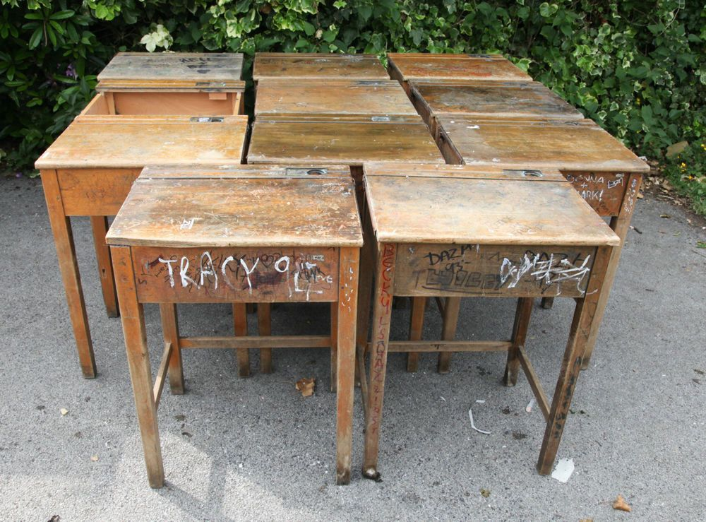 Astonishing School Desk With Inkwell Home Interior And Landscaping Fragforummapetitesourisinfo