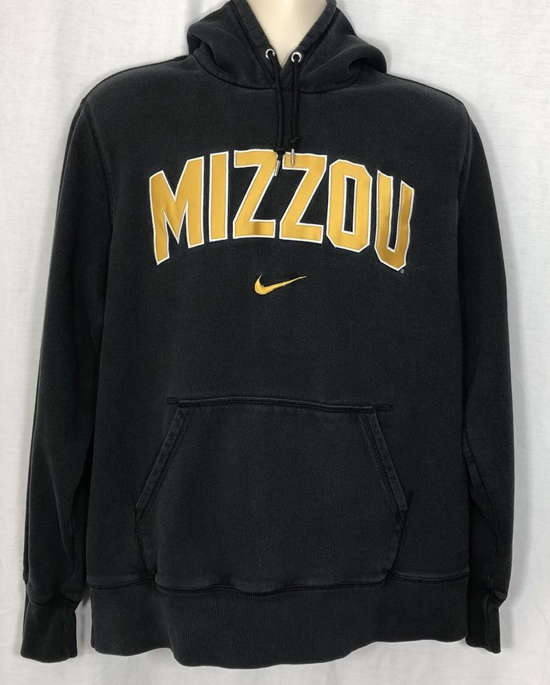 b82819153364 Nike Men s University Of Missouri Tigers Mizzou Hoodie Sz XL Black Gold  Pullover