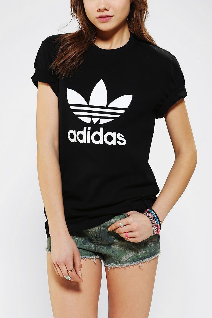 adidas trefoil bikini girl t shirt