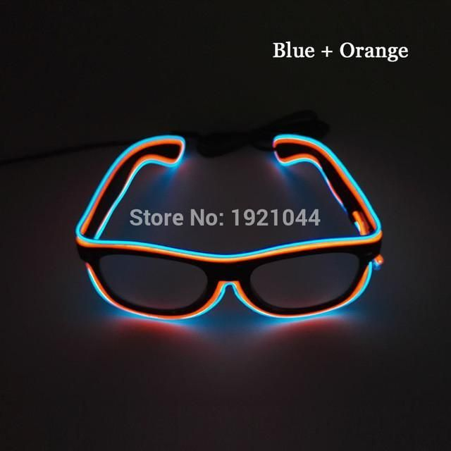 cc13e474e21 Double Colors Sound activated EL Wire Led Glasses Glow Party Lighting  Colorful Glowing Classic Toys For Dj Bar Holiday Gift