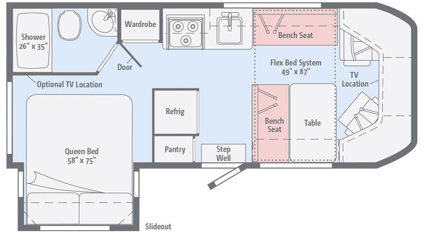New floorplan with new bathroom | Rialta Mods | Pinterest | Rv and ...