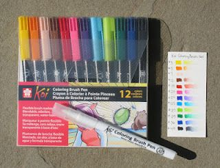 New Marker Review Coloring Brush Pen Brush Pen Sakura Pens