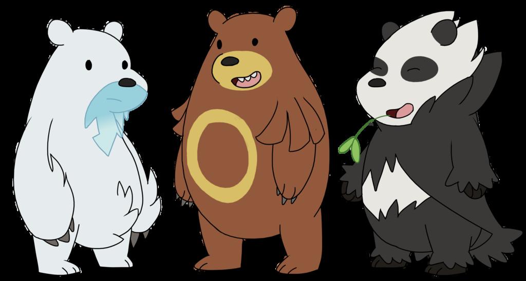 We Bare Bears Pokemon Grizzly Grizz Panda Ice Bear Bear Pokemon We Bare Bears Bare Bears