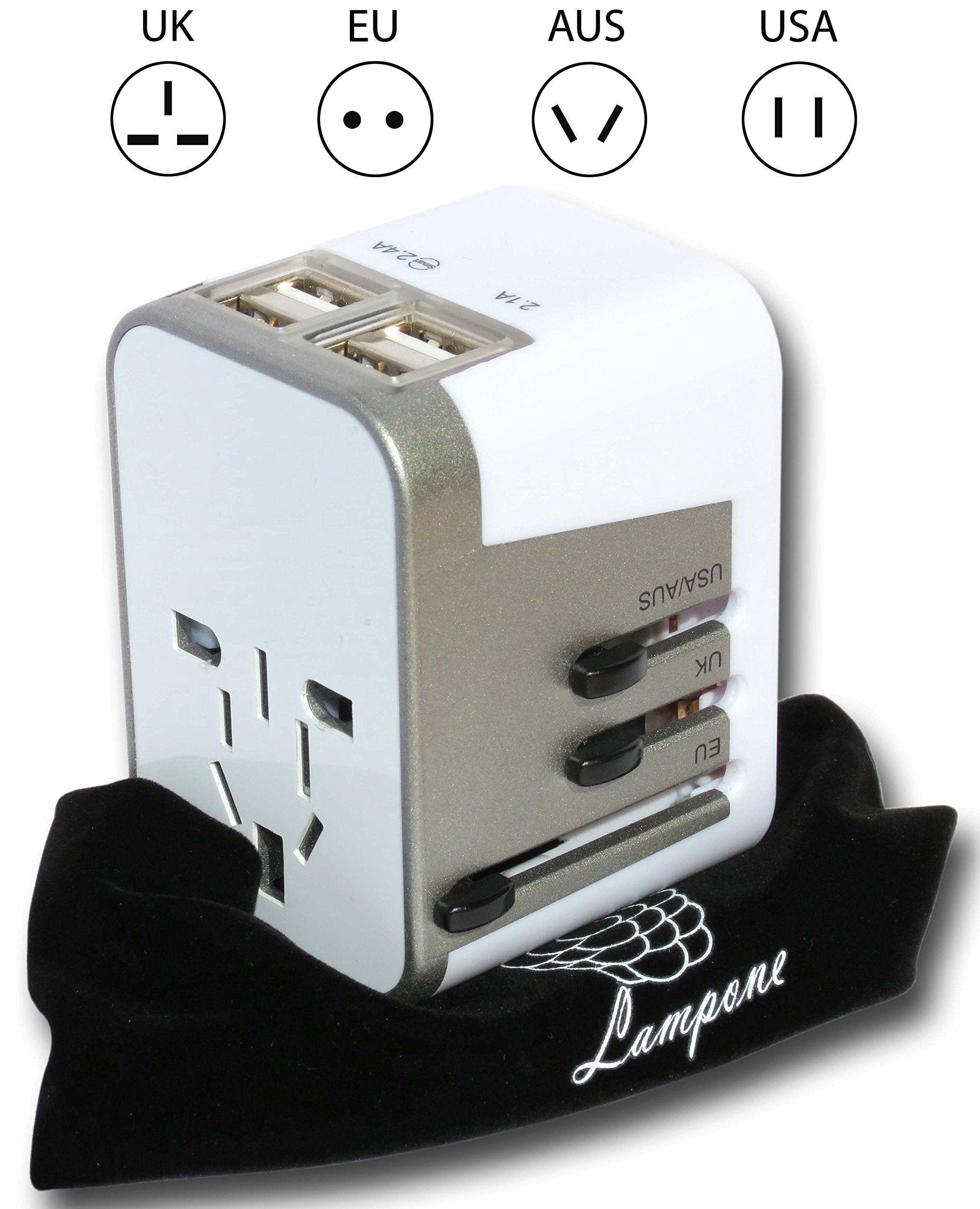 4 Usb Ports Travel Adapter Converter