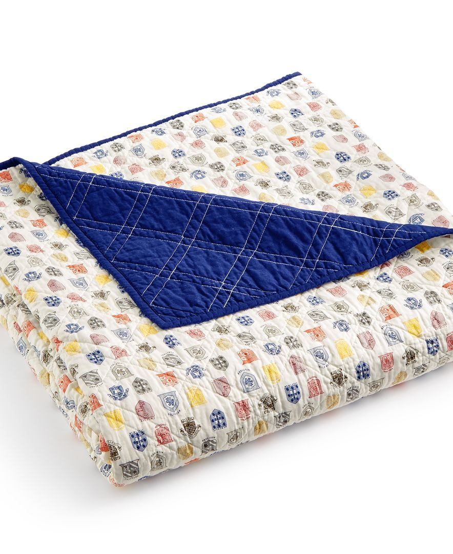 tommy hilfiger royal arms twin quilt - Twin Quilts