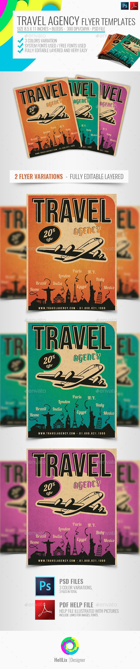 Travel Agency Flyer | Corporate business, Business cards and Flyer ...