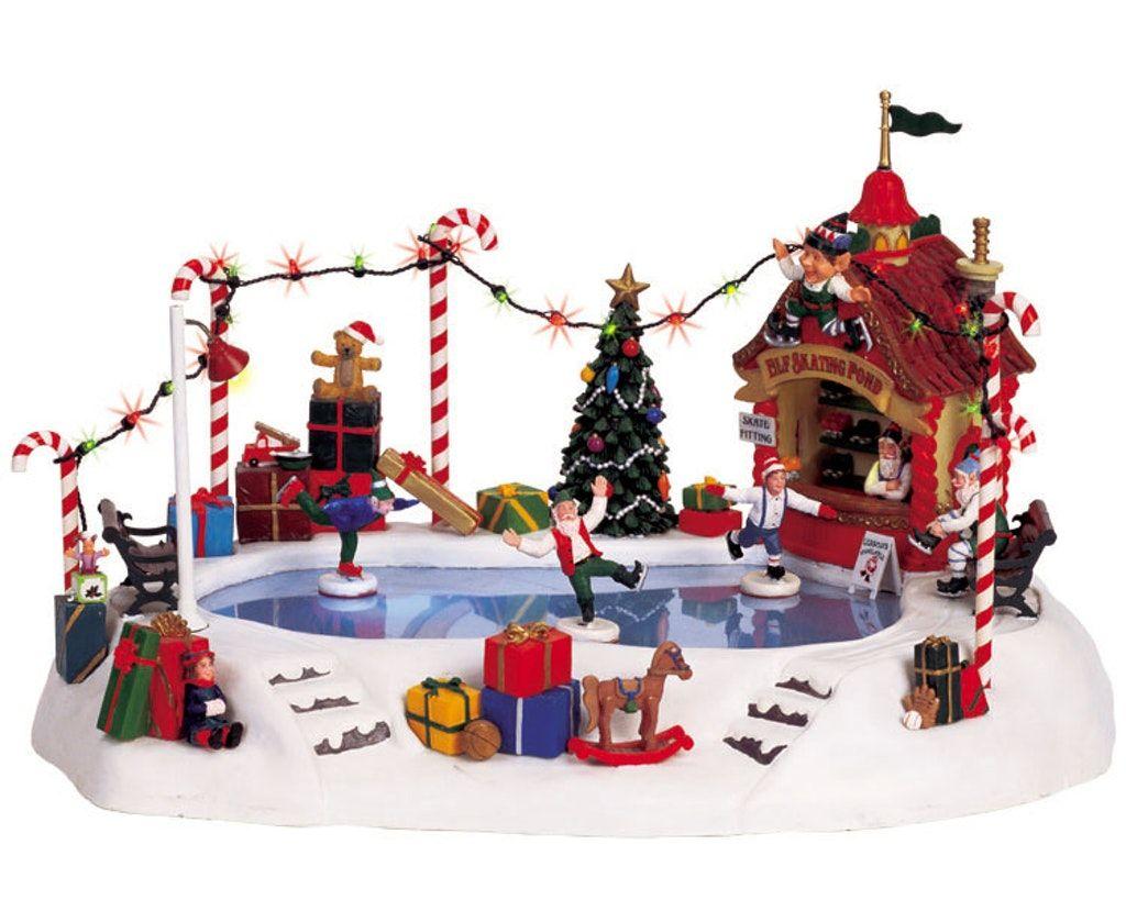 Elf Skating Pond Christmas Village Display Christmas Villages Lemax Christmas