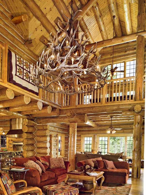 How to make a deer antler chandelier by a c obrien helium awesome antler chandelier love the inside of this cabin mozeypictures Gallery