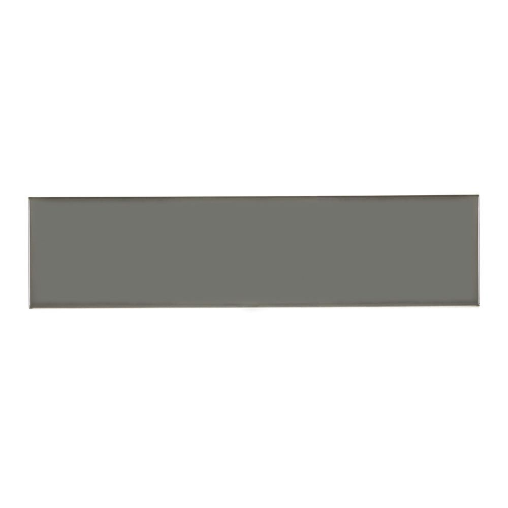 Jeffrey Court Misty Grey Gloss In X In Ceramic Wall Tile - 8 x 16 white ceramic tile
